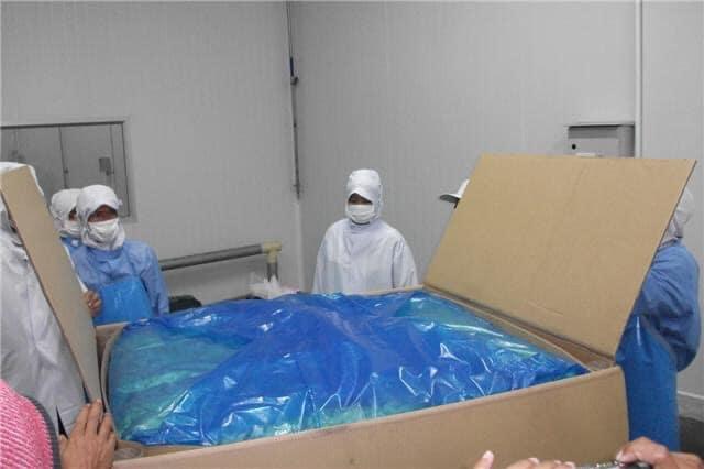 ตัวอย่างการคลุมสินค้าด้วยถุงพลาสติกกันสนิม